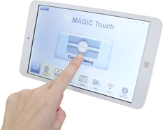 Contrôle sans fil avec tablette, machine de gravage Magic-5S vision-technologies.fr